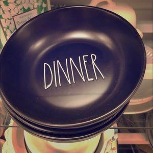 RAE DUNN DINNER BOWL SET 4
